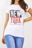 White New York T-Shirt