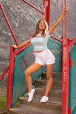 White Side Lace Up Shorts