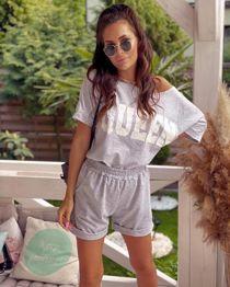 Grey Queen Lounge-wear Short Set