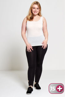 Black Plus Size Laser Cut Leggings