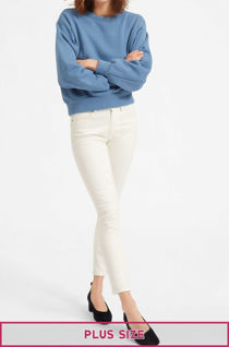 Plus Size White Stretch Slim Fit Skinny Jegging