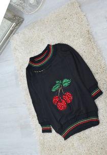 Kids Black Cherry Diamante Jumper
