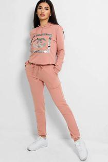Dusty Sequin CG Hooded Loungewear Set