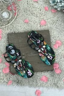 Floral Diamante Bling Sandal