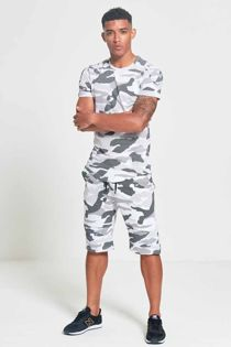 Camo Skinny Fit T-Shirt and Short Set