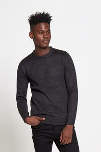 Shoulder Panel Knitted Jumper