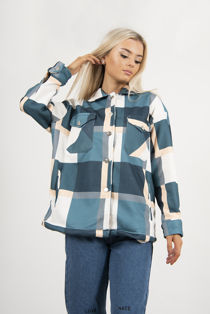 Teal Checked Jacket