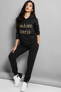 Black Jadore Paris Hooded Lounge Set