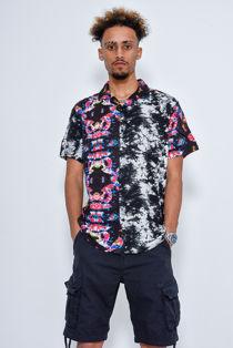 Abstract Print Short Sleeve Shirt