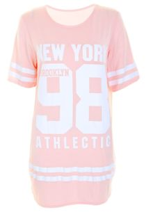 Baby Pink New York 98 Oversize T-Shirt