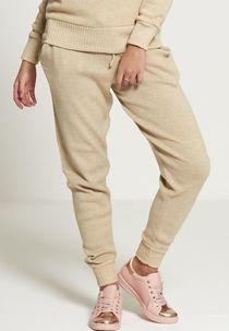 Beige Fine Knitted Loungewear Bottom
