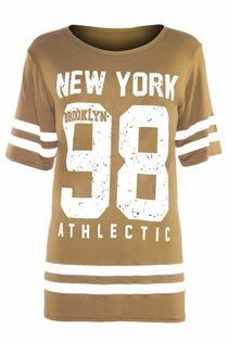 Beige New York 98 Oversize T-Shirt