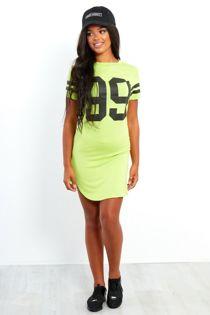 Black 99 Printed Bodycon Dress