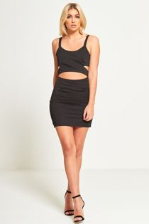 Black Bodycon Cut Out Mini Dress