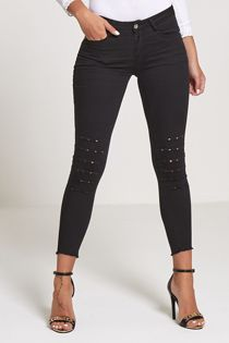 Black Bold Coloured Skinny Jeans
