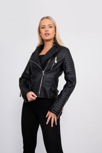 Black Classic Motor Bike Jacket