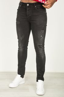 Black Distressed Skinny Fit Jeans