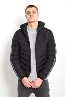 Black Padded with Taping Jacket