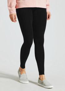 Black Plain Stretchable Viscose Leggings