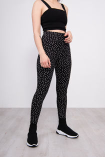 Black Polka Dot Leggings