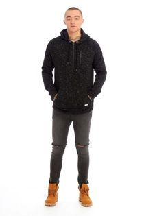 Black Space Dye Pullover Hoodie