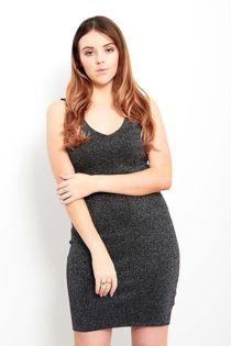 Black Sparkle Bodycon Dress