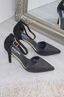 Black Stiletto Pump Heel
