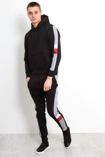Black Tricot Zip Through Skinny Fit Tracksuit
