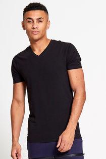 Black V Neck Short Sleeve T-Shirt