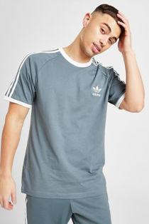 Blue Adidas 3-Stripes Short Sleeves T-Shirt