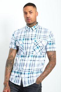 Blue Half Sleeve Check Shirt