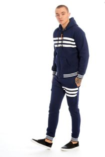 Blue Trio Stripe Skinny Fit Tracksuit