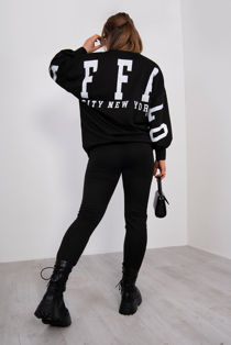 Black Buffalo New York Sweat Top And Jogger Set