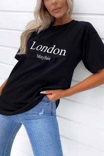 Black London Mayfair Oversized Tee