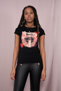 Black Love Printed Tee