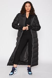 Black Maxi Puffer Hooded Coat Pre Order