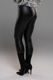 Black PU Leather Push Up Bum Lift Legging