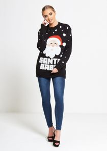 Black Santa Baby Knitted Christmas Jumper