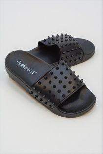 Black Spike Sliders