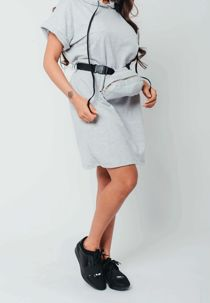 Celeb Sweat Dress with Belted Bag Preorder