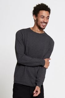 Charcoal Ribbed Knit Jumper