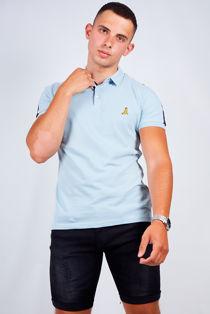 Contrast Stripe Detail Polo Shirt