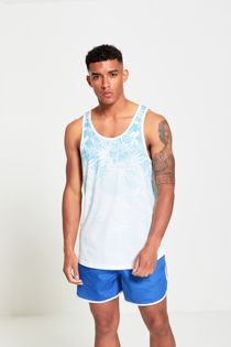 Tropical Two Tone Hem Vest