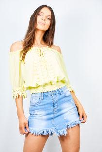 Crochet Bardot Top