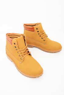 Camel Lace Up High Top Boots