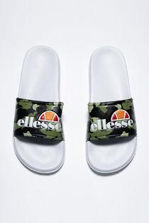 Camo & White Ellesse Duke Sliders