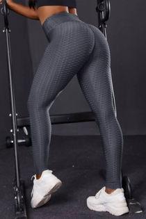 D.Grey Textured Scrunch Butt Gym Leggings