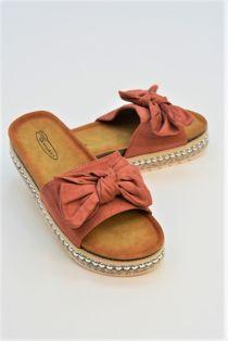 Dusty Bow Platform Sandals