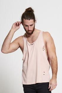 Dusty Distressed Longline Vest