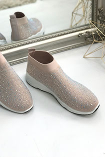 Dusty Embellished Sock Trainers